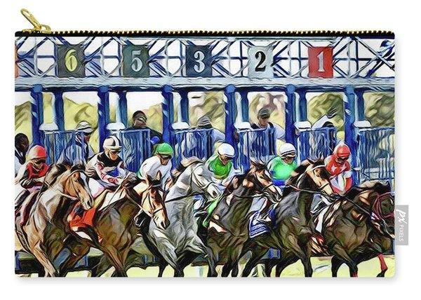 Belmont Park Starting Gate 1 Carry-all Pouch