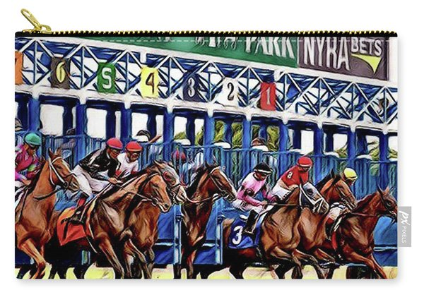 Belmont Park Starting Gate 2 Carry-all Pouch