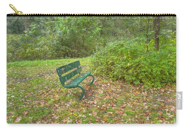 Bench Overlooking Pine Quarry Carry-all Pouch