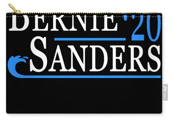 Carry-all Pouch featuring the digital art Bernie Sanders Blue Wave 2020 by Flippin Sweet Gear