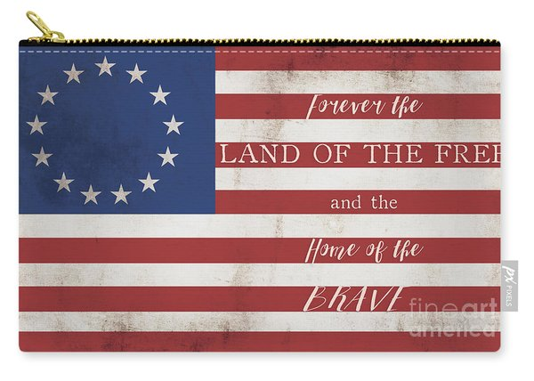 Betsy Ross Flag Land Of Free Home Of Brave Carry-all Pouch