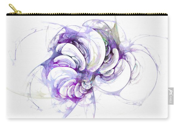 Carry-all Pouch featuring the digital art Beyond Abstraction Purple by Don Northup