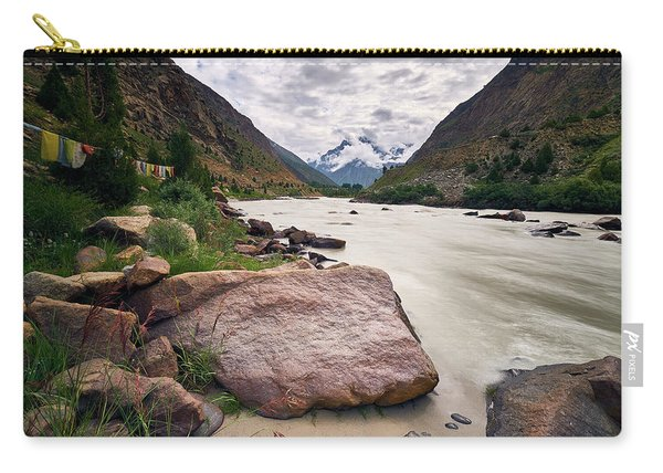 Carry-all Pouch featuring the photograph Bhag River by Whitney Goodey