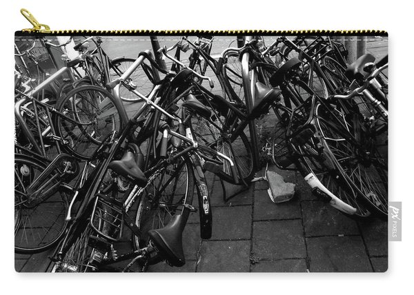 Carry-all Pouch featuring the photograph Bicycles  by Edward Lee