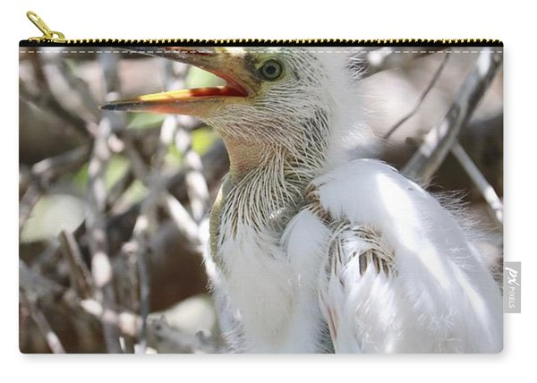 Big Baby Great Egret Carry-all Pouch