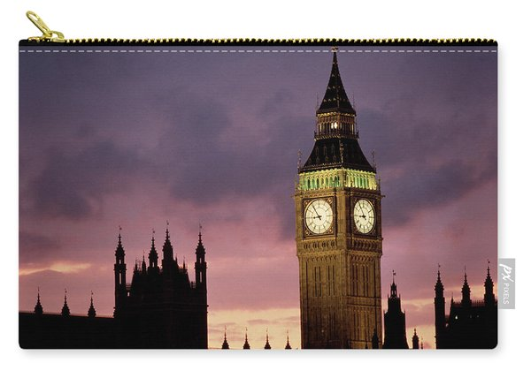 Big Ben Palace Of Westminster London Uk Carry-all Pouch