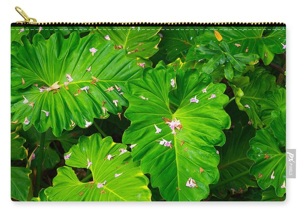 Big Green Leaves Carry-all Pouch