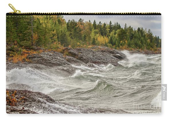 Big Waves In Autumn Carry-all Pouch