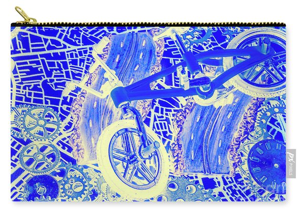 Biking Blue Carry-all Pouch