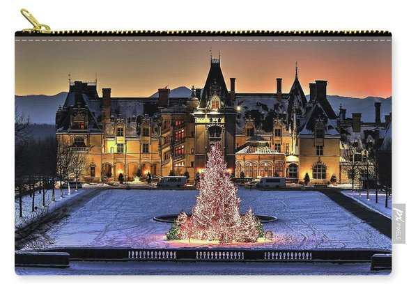 Biltmore Christmas Night All Covered In Snow Carry-all Pouch