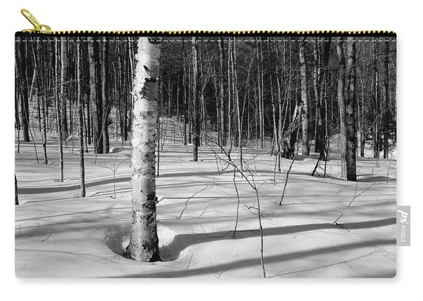 Carry-all Pouch featuring the photograph Birch Shadow. by Jeff Sinon