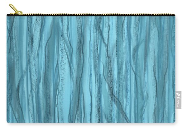 Birch Trees In Blue Light Carry-all Pouch