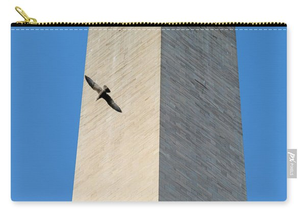 Bird Flying Around The Washington Carry-all Pouch