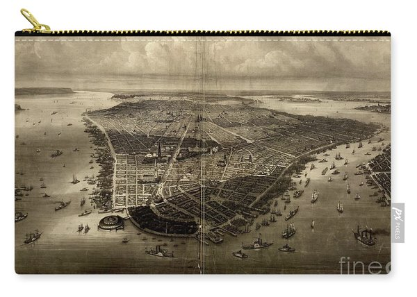 Bird's-eye View Of New York City 1851  Carry-all Pouch