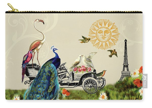 Birds Of A Feather In Paris, France Carry-all Pouch