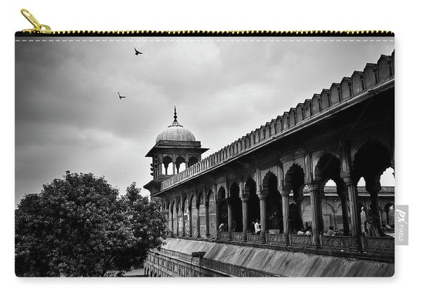Carry-all Pouch featuring the photograph Birds Over The Jama Masjid by Whitney Goodey