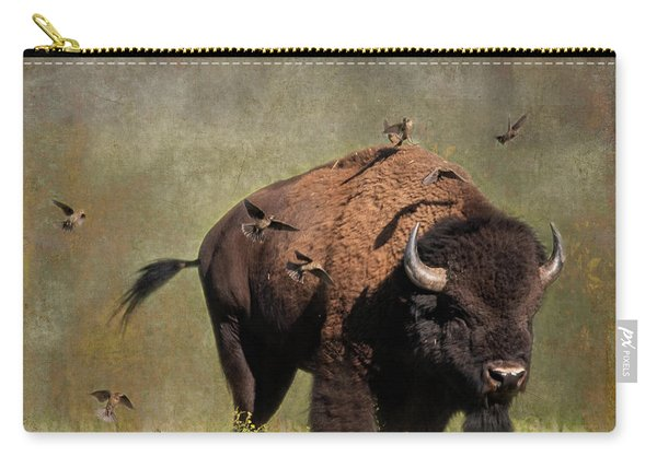 Bison And Friends Carry-all Pouch