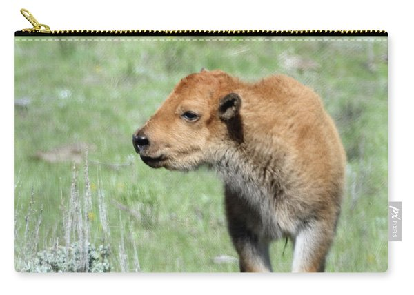 Bison Calf In Lamar Valley Carry-all Pouch