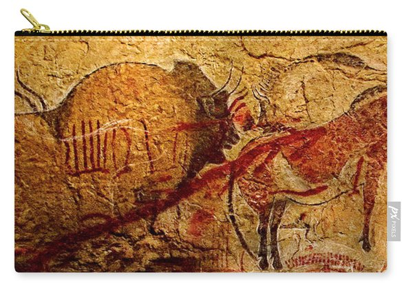 Bison Horse And Other Animals Closer - Narrow Version Carry-all Pouch
