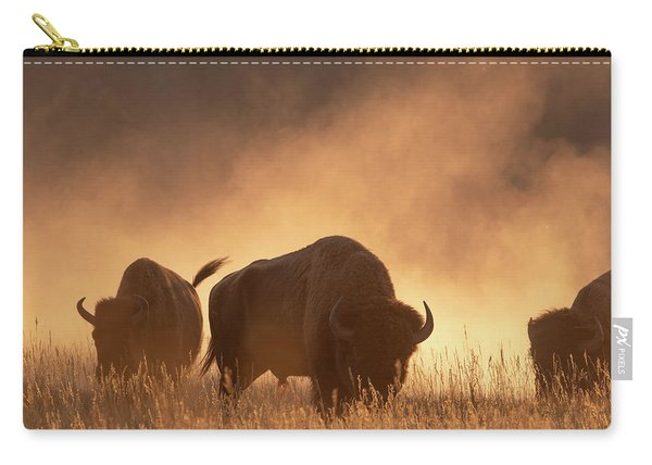 Bison In The Dust Carry-all Pouch