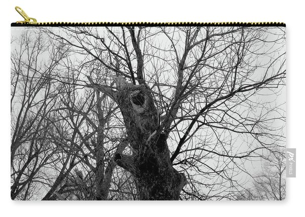 Black Against Gray Carry-all Pouch