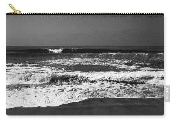 Black And White Beach 4- Art By Linda Woods Carry-all Pouch