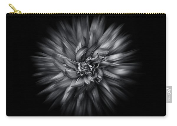 Black And White Flower Flow No 5 Carry-all Pouch