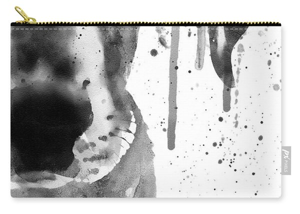 Black And White Half Faced Puppy Carry-all Pouch