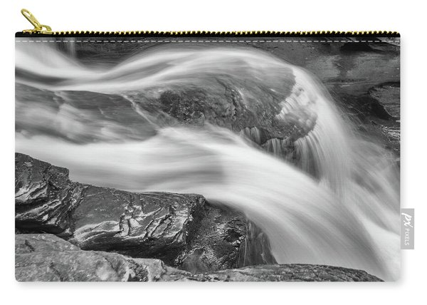 Black And White Rushing Water Carry-all Pouch