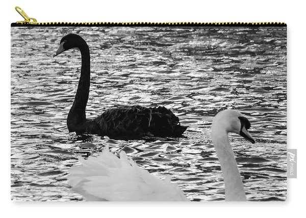Black And White Swans Carry-all Pouch