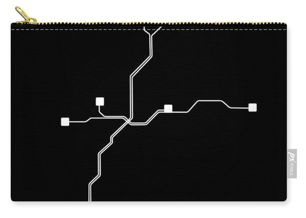 Black Atlanta Subway Map Carry-all Pouch