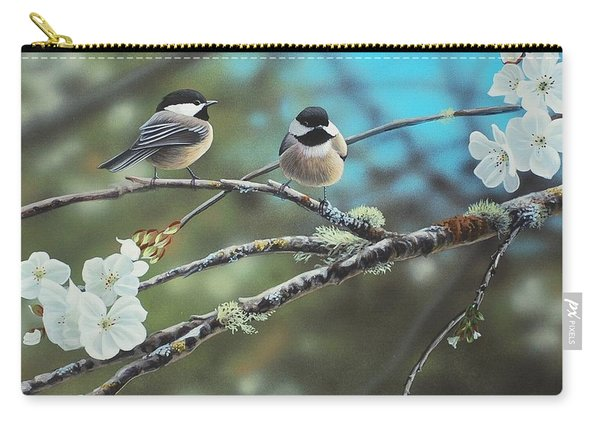 Black Capped Chickadees Carry-all Pouch