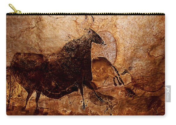 Black Cow And Horses Carry-all Pouch
