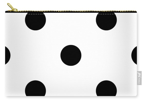 Black Dots On A White Background- Ddh610 Carry-all Pouch