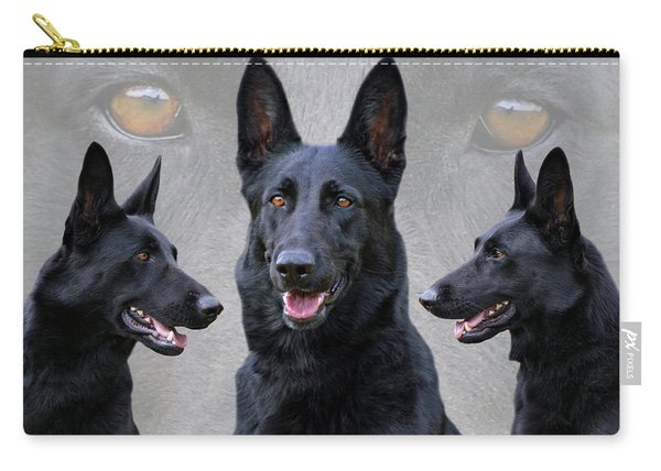 Black German Shepherd Dog Collage Carry-all Pouch