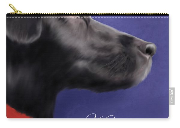 Black Labrador Retriever - Happy Holidays Carry-all Pouch