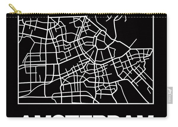 Black Map Of Amsterdam Carry-all Pouch
