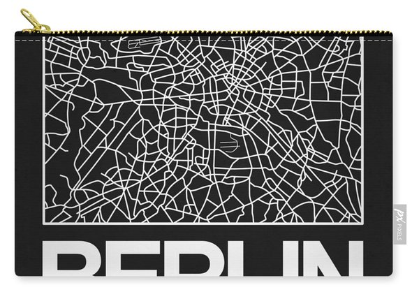 Black Map Of Berlin Carry-all Pouch