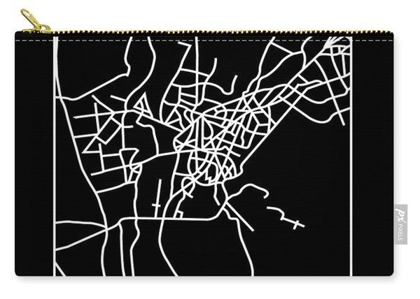 Black Map Of Cairo Carry-all Pouch