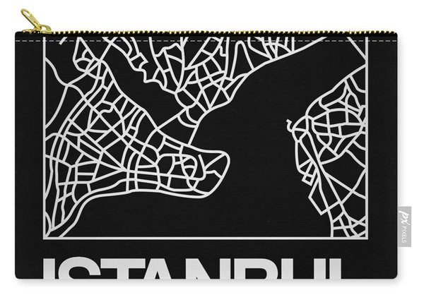 Black Map Of Istanbul Carry-all Pouch
