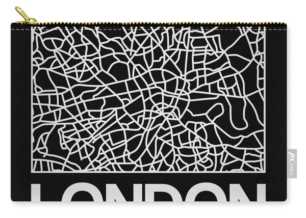 Black Map Of London Carry-all Pouch