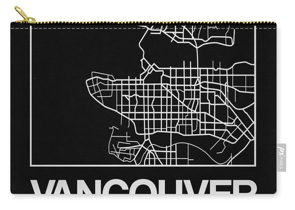 Black Map Of Vancouver Carry-all Pouch