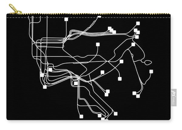 Black New York Subway Map Carry-all Pouch