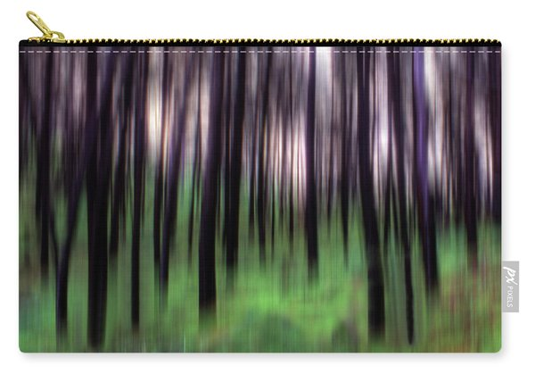 Black Pines In A Green Wood Carry-all Pouch