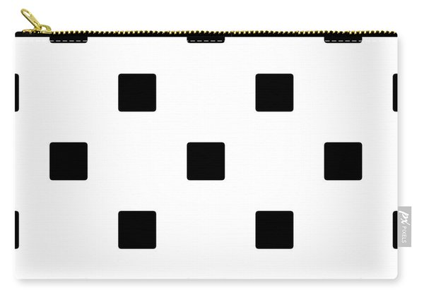 Black Squares On A White Background- Ddh574 Carry-all Pouch