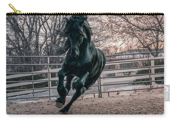 Black Stallion Cantering Carry-all Pouch