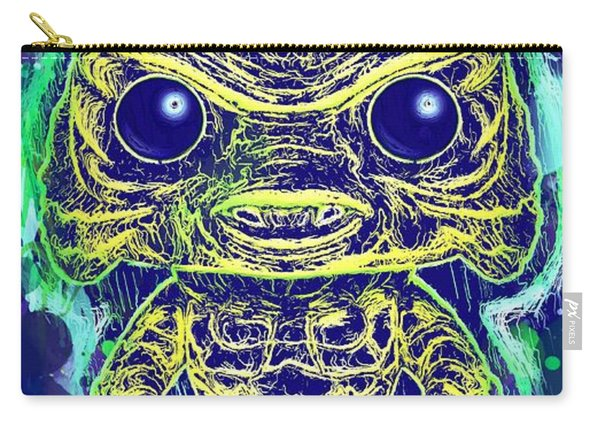 Carry-all Pouch featuring the mixed media Creature From The Black Lagoon Pop by Al Matra