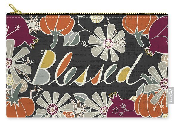 Blessed Fall Art Black Background Carry-all Pouch