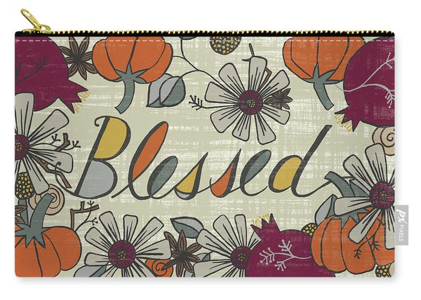 Blessed Fall Art Cream Background Carry-all Pouch