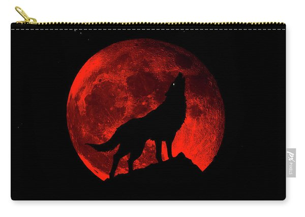 Blood Red Wolf Supermoon Eclipse 873l Carry-all Pouch